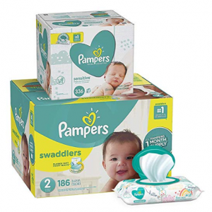 Prime Only: Pampers Swaddlers Disposable Baby Diapers and Baby Wipes, 336 Ct @ Amazon