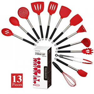 Silicone Cooking Utensil Set now 40.0% off , ChicAid Kitchen Utensil Set with Spatula, Heat Resist..