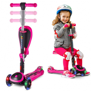 SKIDEE 兒童2合1可折疊滑板車特惠 @ Amazon