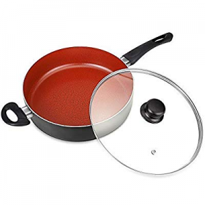 MICHELANGELO Titanium Skillet 11 Inch with Lid now 70.0% off , 5 Quart Induction Saute Pan,Nonstic..