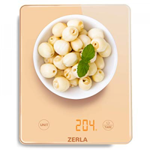 Digital Kitchen Scale now 40.0% off , ZERLA Multifunction Food Scale and LED Screen Display, Glass..