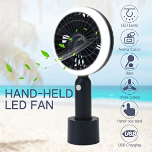 FrideMok USB Portable Mini Handheld Fan now 40.0% off ,Silent Aromatherapy Personal Fans with LED ..