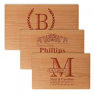Personalized Engraved Cutting Board now 70.0% off , Custom Cherry Wood Serving Board, Wedding Gift..