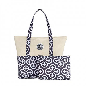 IHONEY Women Tote Bag for School Work Travel and Shopping Included a Dressing Bag now 75.0% off