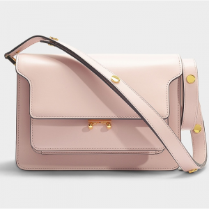 Marni Trunk Medium Bag In Pink Calfskin @ MONNIER Frères