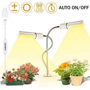 One Day Only!LED Grow Light for Indoor Plant now 40.0% off , 45W 88 LED Timing Grow Lamp Auto On/O..