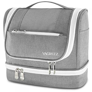 One Day Only!VAGREEZ Toiletry Bag now 40.0% off , Hanging Travel Toiletry Bag with Heavy-duty Zipp..