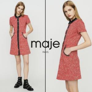 Tweed-style Dress @ Maje