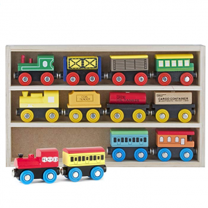 Play22 Wooden Train Toys Magnetic Set 12 PCS @ Amazon