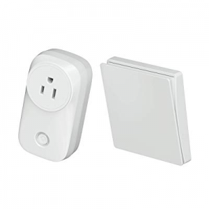 5.0% off Skywin Wireless Outlet and Battery Free Kinetic Light Switch - Stick on wireless light sw..