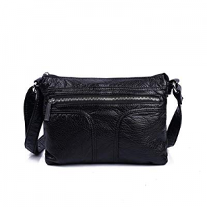 56.0% off Multi Compartment Women Crossbody Bag Pocketbooks Soft Purses and Handbags Vegan Leather..