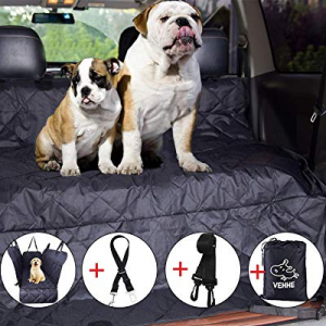 50.0% off VEHHE Dog Car Seat Covers Pet Seat Cover Hammock for Back Seat - 100% Waterproof Scratch..