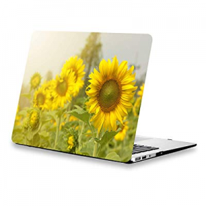 Sunflower MacBook Air Case 13.3 Inch now 50.0% off , Yellow Flowers Soft-Touch Protective Hard She..