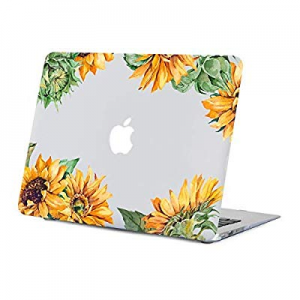 One Day Only!Sunflower MacBook Air 13.3 inch Case now 30.0% off , Yellow Floral Case for MacBook A..