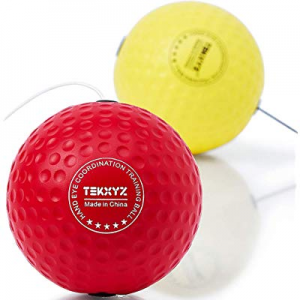 TEKXYZ Boxing Reflex Ball now 20.0% off , 2 Difficulty Level Boxing Ball with Headband, Softer Tha..
