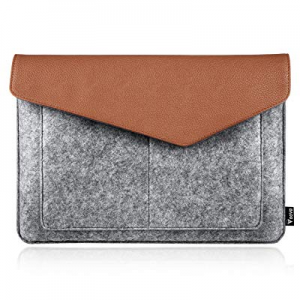 Voova 11.6-12.5 Inch Tablet Sleeve now 50.0% off , Slim 12 Inch Tablet Sleeve Leather Felt Case Ba..