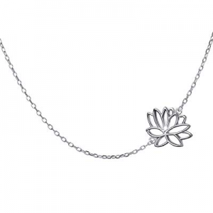 S925 Sterling Silver Olive Leaf Necklace Bracelet Lotus Choker Necklace for Women Lady now 50.0% o..