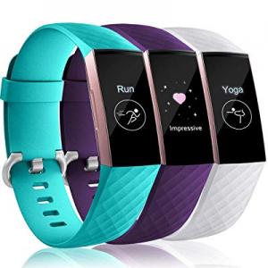 Maledan Compatible with Fitbit Charge 3 Bands for Women Men now 50.0% off , Waterproof Accessories..