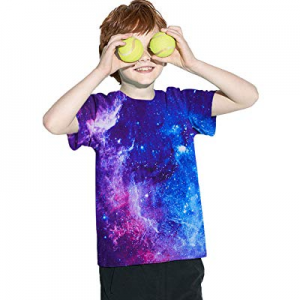 42.0% off UNICOMIDEA Kids Boys T-Shirts Crew Neck Tees with 3D Print Graphic Short Shirts Slim Top..
