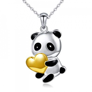 50.0% off Sterling Silver Forever Love Cute Animal Love Heart Necklace Ring Earrings for Women Gir..