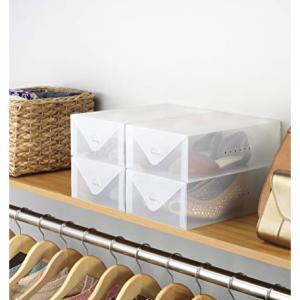Whitmor Clear Vue Women's Shoe Box - Heavy Duty Stackable Shoe Storage - (Set of 4) @Amazon