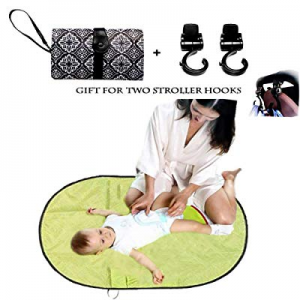 Waterproof Baby Changing Pad now 30.0% off , Infants & Newborns Portable Diaper Changing Bag Mat,F..