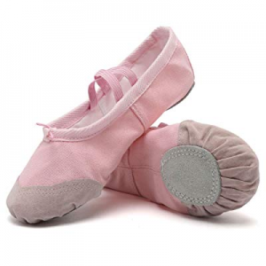 One Day Only!50.0% off Ballet Shoes Ballet Slippers Girls Ballet Flats Canvas Dance Shoes Yoga Sho..