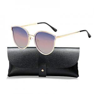 One Day Only!55.0% off Oversized Cat Eyes Sunglasses for Women Polarized Fashion Vintage Eyewear f..