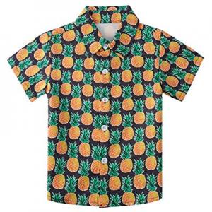 30.0% off Fanient Big Boys Hawaiian Shirt Summer Cuasual Button Down Shirt Beach Holiday Aloha Shi..