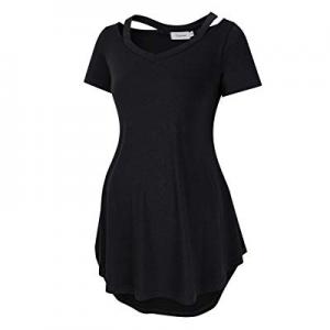 Coolmee Maternity Shirts 2019 Women's Maternity Tops Cold Shoulder Tunic Tops Casual Tops for Wome..