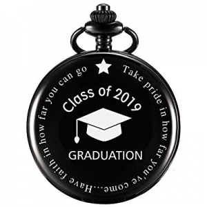 MJSCPHBJK Graduation Gift Pocket Watch now 10.0% off , Personalized Engraved 'Class of 2019' Perfe..