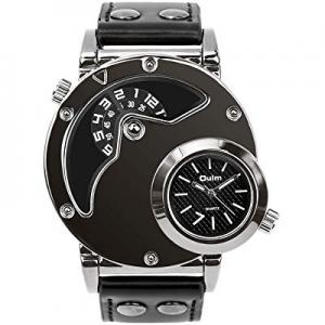 Men's Unique Analog Watch now 10.0% off , Waterproof Fashion Dress Quartz Wrist Watch with Dual Di..