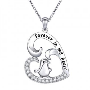 One Day Only!50.0% off Sterling Silver Forever Love Cute Animal Love Heart Necklace Ring Earrings ..