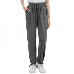Zexxxy Women Jogger Pants Casual Cotton Drawstring Lounge Pockets Pajama Bottoms now 30.0% off