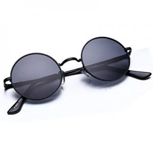 Argus Le Lennon Retro Round Sunglasses, Vintage Polarized Hipple Glasses with Plain Lens now 20.0%..