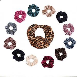 YUOIOYU 12 PSC Hair Scrunchies Velvet Hair Ties Elastic Hair Band For Women Hair Accessories (12) ..