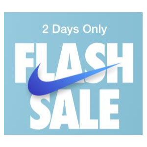Nike Flash Sale 30% Off Select Styles