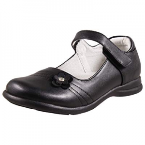 LIYZU Leather Mary Jane Shoes for Girls, School Uniform Flats Black now 25.0% off