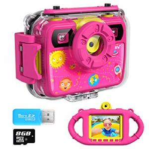 Ourlife Kids Camera now 15.0% off , Selfie Kids Waterproof Digital Cameras for Kids 1080P 8MP 2.4 ..