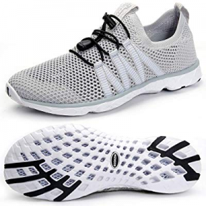 SUOKENI Men's Quick Drying Slip On Water Shoes for Beach or Water Sports now 22.0% off