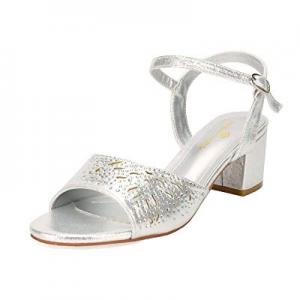 DREAM PAIRS Women's Mona Low Block Heel Dress Sandal Open Toe Ankle Strap Pump Sandal now 50.0% off