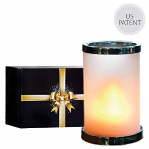 55.0% off Flame Light with Remote - Frosted Glass Shade Included | Rechargeable Battery Operated L..