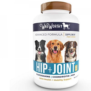 One Day Only!WagWorthy Naturals Advanced Hip and Joint Supplement for Dogs with Chondroitin now 15..