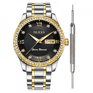One Day Only!20.0% off Classic Luxury Watches for Men -OLEVS Watch Calendar 2019 Waterproof Analog..