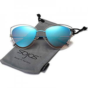 One Day Only!SOJOS Women's Double Wire Double Rimmed UV400 Cat Eye Sunglasses SJ1046 SJ1047 now 70..