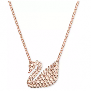 Swarovski Rose Gold-Tone Crystal Swan 14-3/4 Pendant Necklace @ Macy's