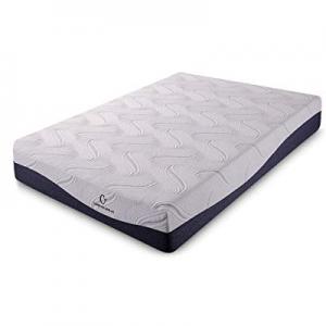 """One Day Only!Cr Comfort & Relax HK11-FULL Memory Foam Mattress, Full(54""""74""""11""""), White now 50.0% o.."""