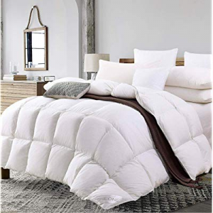 One Day Only!SHEONE All Seasons Lightweight White Goose Down Comforter now 10.0% off , King Size D..