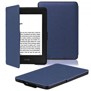 One Day Only!OMOTON Kindle Paperwhite Case Cover - The Thinnest Lightest PU Leather Smart Cover Ki..