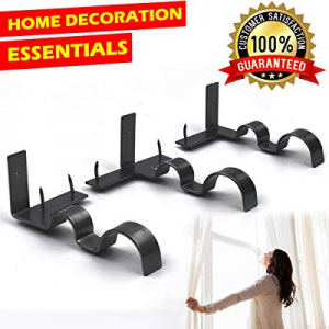 One Day Only!12.0% off Great Home Curtain Rod Brackets Set Curtain Rod Holders No DrillingTap Righ..